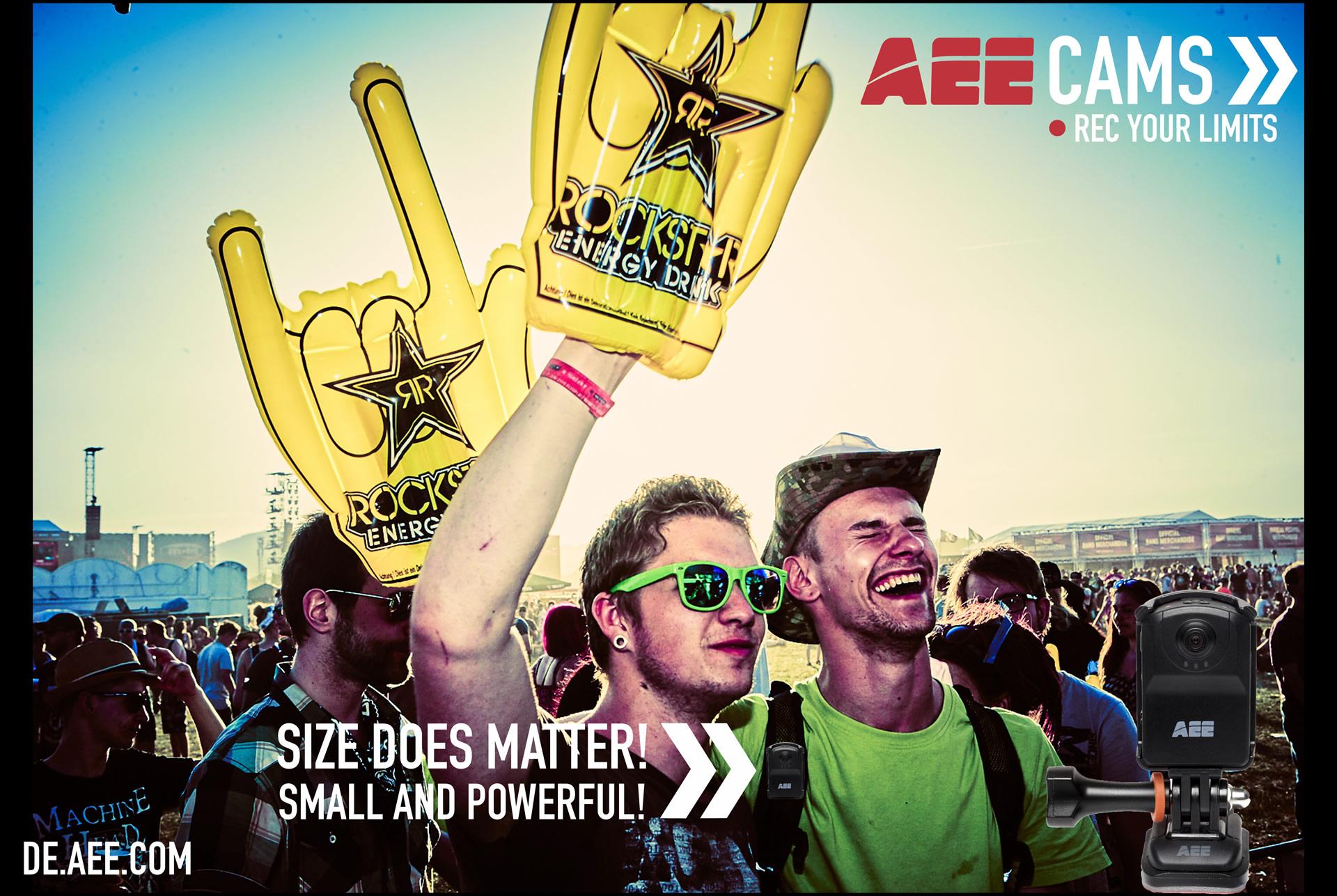 音樂會現場-AEE運動攝像機海外應用